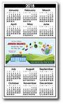 Custom Utility Year at a Glance Calendar w/ Center Ad Space (3 1/2