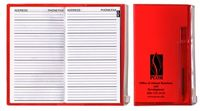 Address Book w/ Zip Back Planner & Matching Pen - Translucent Color Cover