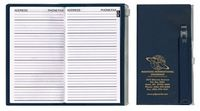Address Book w/ Zip Back Planner & Matching Pen - Solid Color Cover