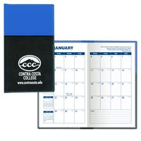 Soft Cover 2 Tone Vinyl France Series Monthly Planner / 1 Color Insert