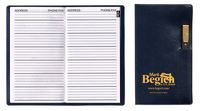Executive Vinyl Cover Address Book with Pen