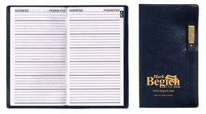 Address Book w/ Executive Vinyl Cover & Flat Pen