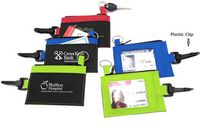 Clip-On ID Holder w/ Coin Zip Purse