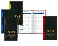 Soft Cover 2 Tone Vinyl Holland Series Monthly Planner / 1 Color Insert