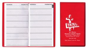 Address Book w/ Translucent Vinyl Cover