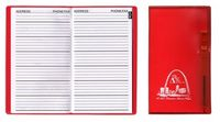 Address Book w/ Translucent Vinyl Cover & Flat Pen