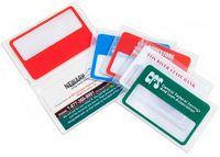 5X Credit Card Size Magnifier in Clear Bi-Fold Case.