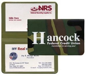 Custom Imprinted Camouflage Business Card Cases!