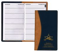 Normandy 2 Tone Soft Vinyl Address Book Cover