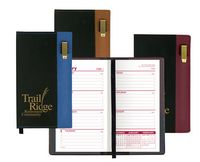 Lafayette Series Soft Cover 2 Tone Vinyl Weekly Planner w/ Pen / 1 Color