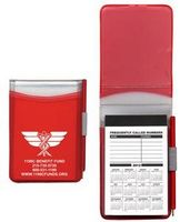 Hard Cover Memo Book w/ Pad & Matching Pen (100 Page Insert)