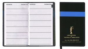 Joliett Series Soft Cover 2 Tone Vinyl Address Book