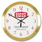 Gold Tone Metal Wall Clock (10