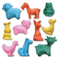 Jr. Farm Animal Stock Shape Eraser