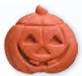 Jack O Lantern Stock Shape Pencil Top Eraser