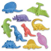 Jr. Dinosaur Stock Shape Pencil Top Eraser