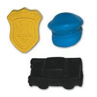 Mini Police Stock Shape Pencil Top Eraser