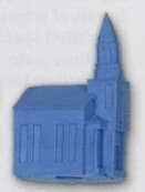Church Stock Shape Pencil Top Eraser