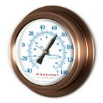 "Copper Replica Porthole Thermometer (9"")"