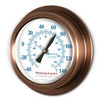 """Copper Replica Porthole Thermometer (9"""")"""