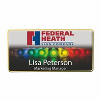 "Rectangle Name Badge (3""x1 1/2"")"