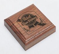 Square Wood Paperweight