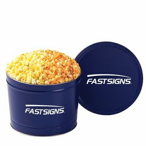 2 Way Popcorn Tins - Butter & Cheddar Cheese Popcorn (2 Gallon)