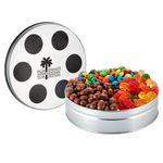 Custom Small Film Reel Tin - 3 Way Snack Tin