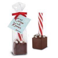 Hot Chocolate Peppermint Stick Favor Bag