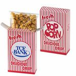 Custom Striped Popcorn Box - Caramel Popcorn