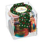 Custom Casino Cube w/ Chocolate Poker Chips