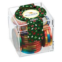 Casino Cube w/ Chocolate Poker Chips