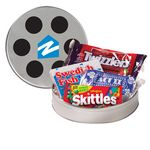 Custom Large Film Reel Tin w/ Assorted Candies