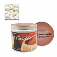 Large Gourmet Hot Chocolate Tin with Mini Marshmallows