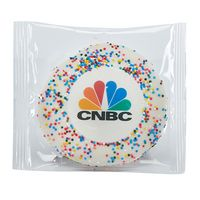 Custom Sugar Cookie w/ Rainbow Sprinkles