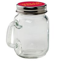 Glass Mini Mason Jar w/ Handle - Empty