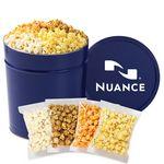 Custom 4 Way Popcorn Tins - (3.5 Gallon) - Individually Bagged