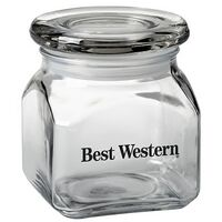 Contemporary Glass Jar - Empty (10 Oz.)