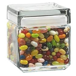 Square Glass Jar Jelly Belly Jelly Beans 32 Oz 32sqgjjbl