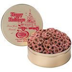 Custom Corporate Color Chocolate Covered Pretzel Tin / Large