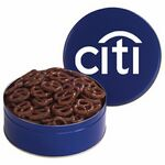 Custom Large Assorted Snack Tins - Chocolate Covered Pretzels