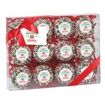 Custom Elegant Chocolate Covered Printed Oreo Gift Box - Holiday Sprinkles/Printed Cookies (12 pack)
