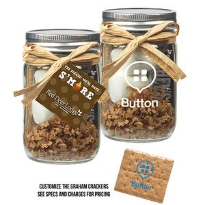 Smores Kit in Glass Mason Jar