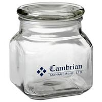 Contemporary Glass Jar - Empty (32 Oz.)