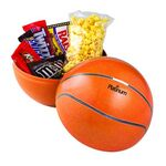 Custom Large Themed Tin Banks - 1 Bag of Butter Popcorn & 5 Assorted Candies