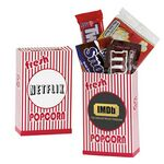 Custom Striped Movie Snack Box w/ Assorted Candies
