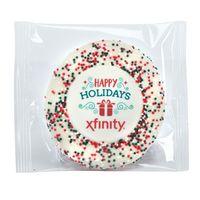 Custom Sugar Cookie w/ Holiday Sprinkles