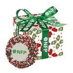 Custom Custom Chocolate Covered Oreo Favor Box - Holiday Nonpareil Sprinkles