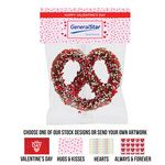 Custom Precious Pretzel Chocolate Covered Header Bag