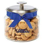 Custom Glass Cookie Jar - Mini Chocolate Chip Cookies (48 Oz.)
